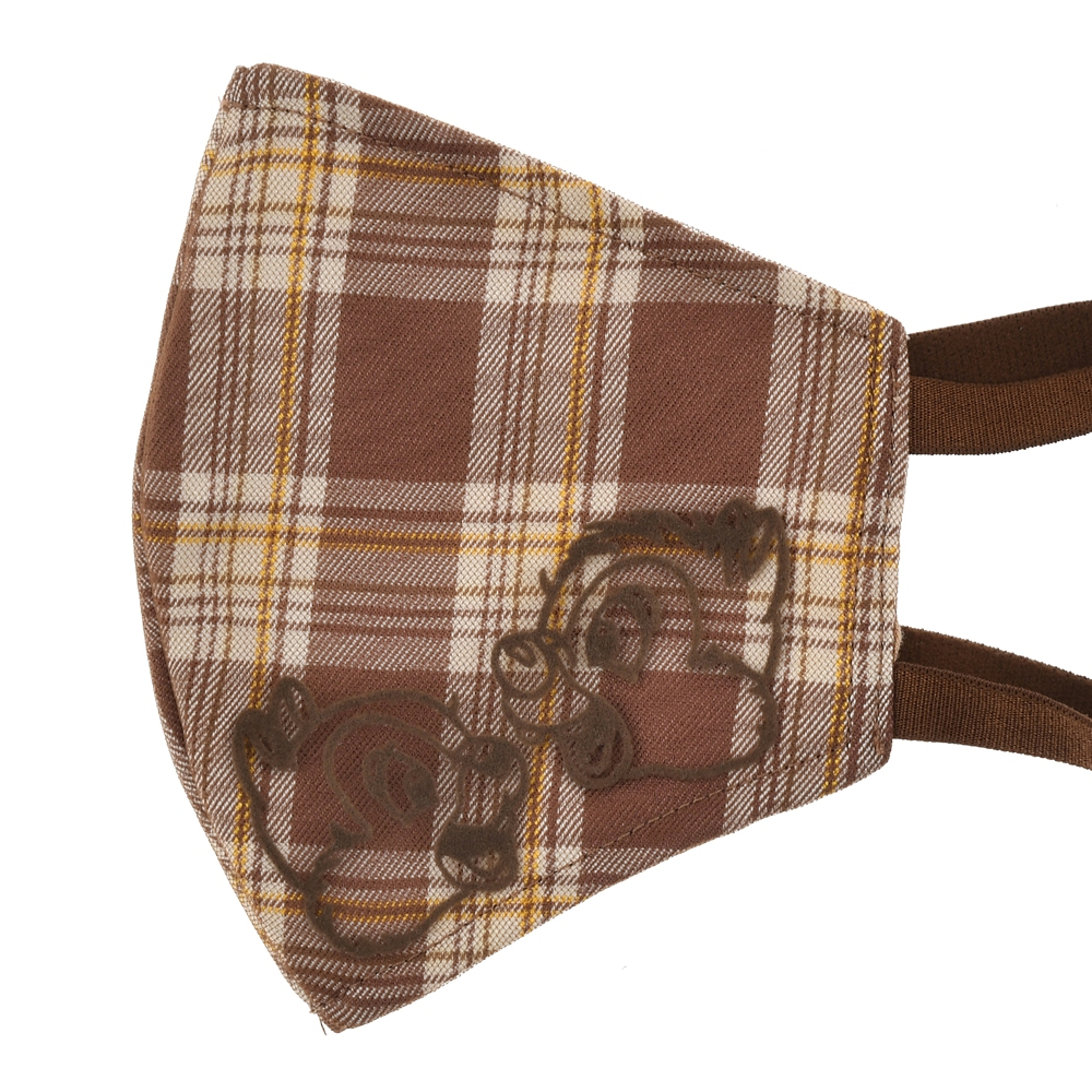 チップ&デール 家庭用布マスク チェック柄 リボン