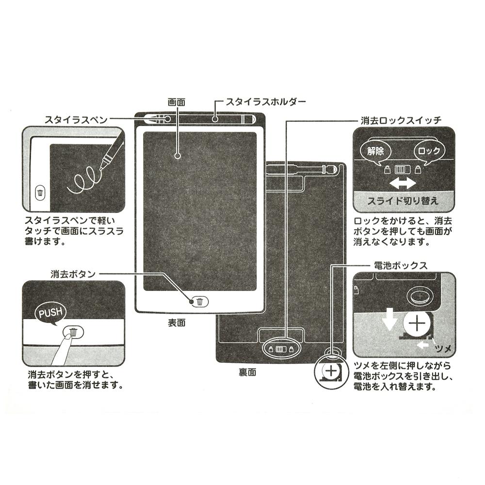 リトル・グリーン・メン/エイリアン 電子メモ タブレット ピザ・プラネット