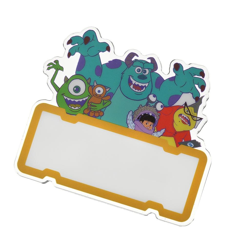 モンスターズ・インク ネームバッジ クリップ 両用タイプ DIY Monsters Inc. 20th
