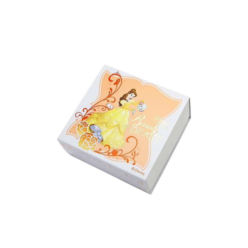 【送料無料】ディズニープリンセス 美女と野獣 ベル ピンク/ホワイトゴールドペンダント