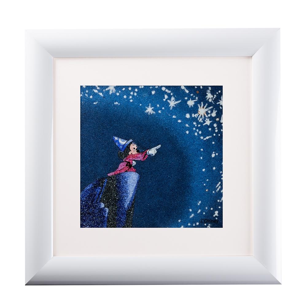 【受注生産】【生産限定10枚】ジュエリー絵画 『ファンタジア』 ミッキー Mサイズ
