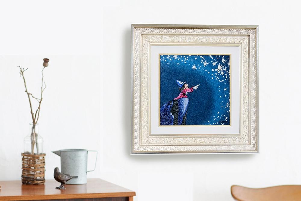 【受注生産】【世界限定1枚】 ジュエリー絵画 『ファンタジア』 ミッキー XL3サイズ