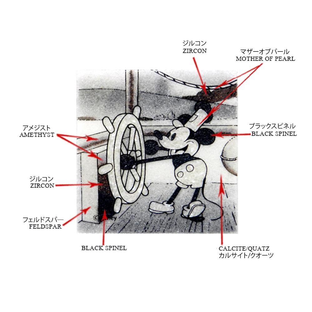 【受注生産】【生産限定3枚】ジュエリー絵画 『蒸気船ウィリー』 ミッキー XSサイズ