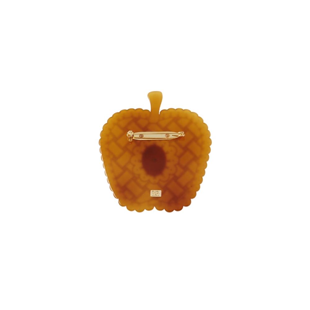 【キューポット】白雪姫/ブローチ アップルパイ