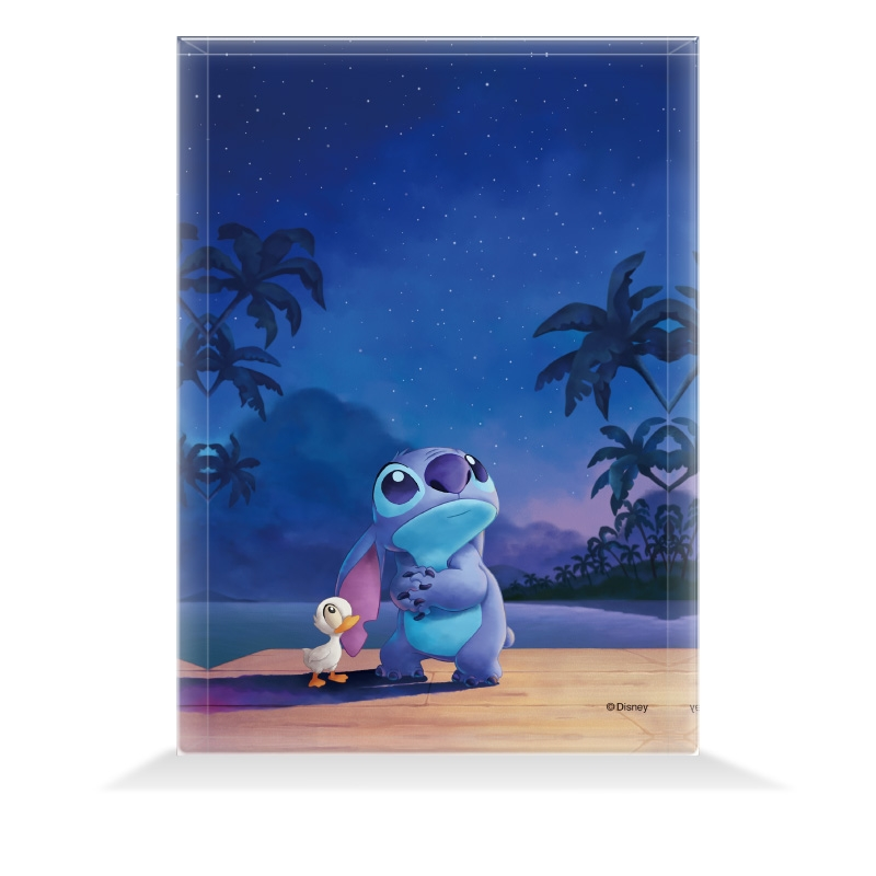【D-Made】アクリルブロック リロ&スティッチ スティッチ&アヒル 願い事 Stitch's OHANA