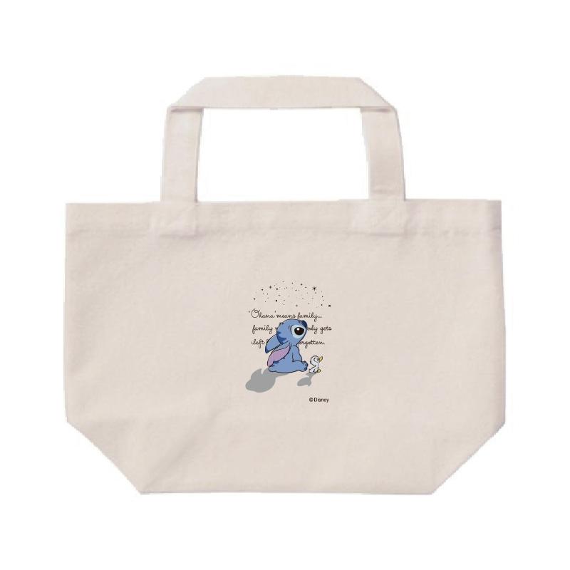 【D-Made】ミニトートバッグ  リロ&スティッチ スティッチ&アヒル影 Stitch's OHANA