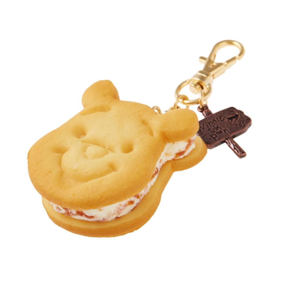 【キューポット】プーさん /バッグチャーム ハニーキャラメル クッキーサンドアイス