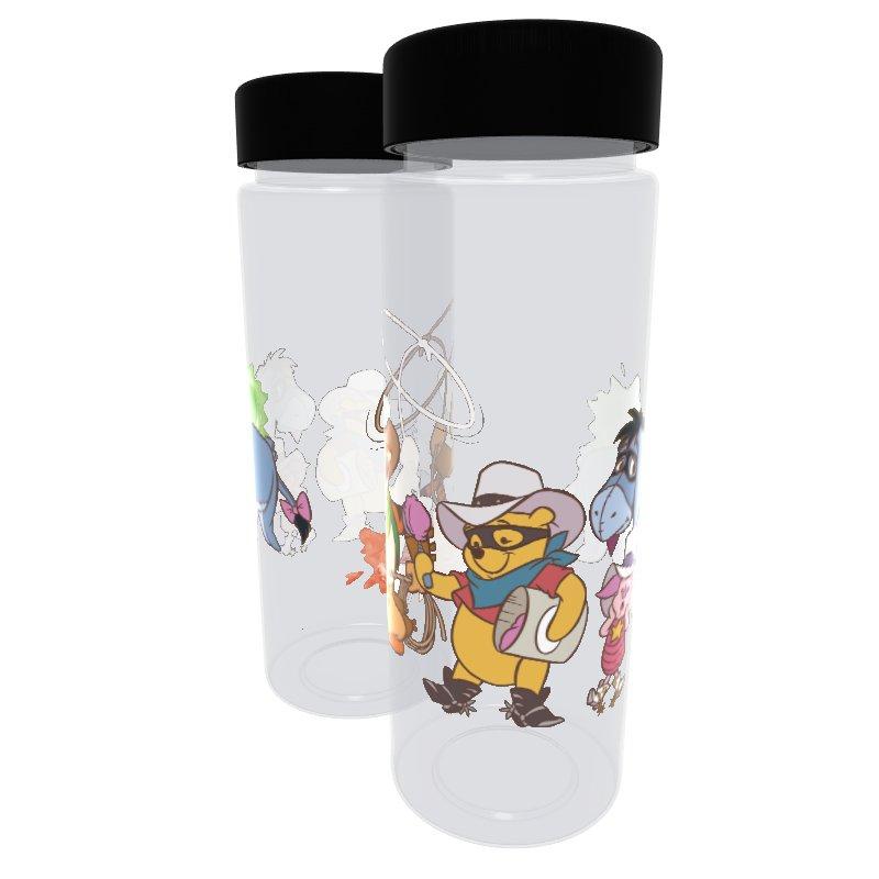 【D-Made】クリアボトル くまのプーさん 集合 Western Pooh