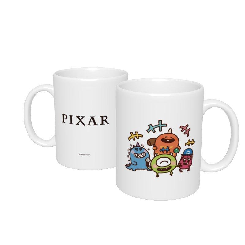 【D-Made】マグカップ  カナヘイ画♪WE LOVE PIXAR マイク&バイル&ジョージ&ファンガス