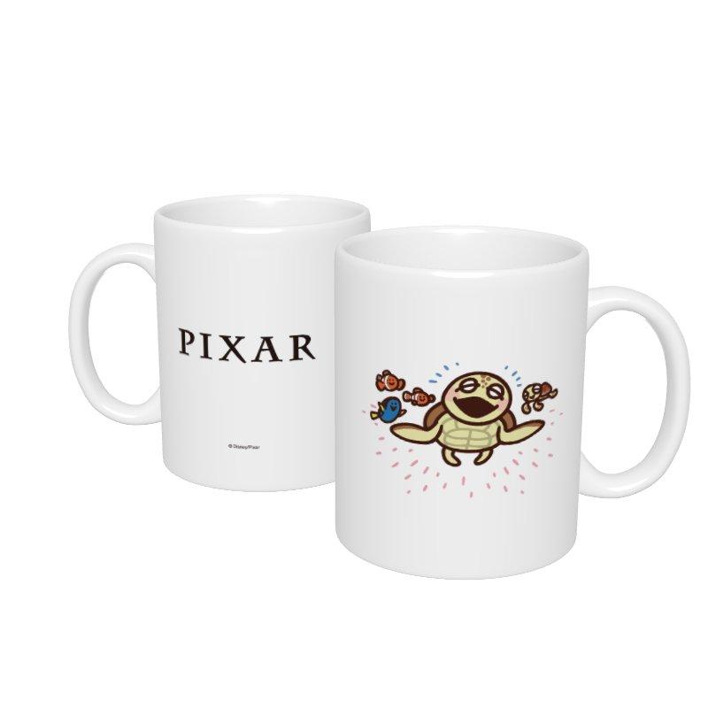【D-Made】マグカップ  カナヘイ画♪WE LOVE PIXAR クラッシュ&スクワート&ニモ&ドリー&マーリン