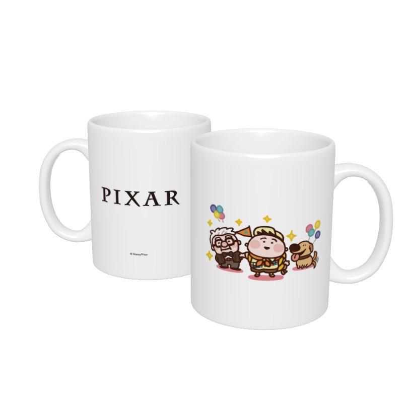 【D-Made】マグカップ  カナヘイ画♪WE LOVE PIXAR カール・フレドリクセン&ラッセル・キム&ダグ