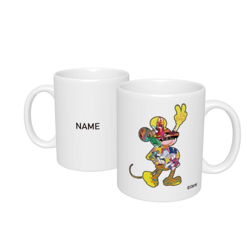 【D-Made】名入れマグカップ  ミッキー&フレンズ ミッキー シルエット フレンドシップデー