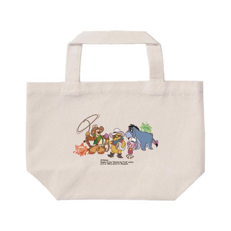 【D-Made】ミニトートバッグ  くまのプーさん 集合 Western Pooh