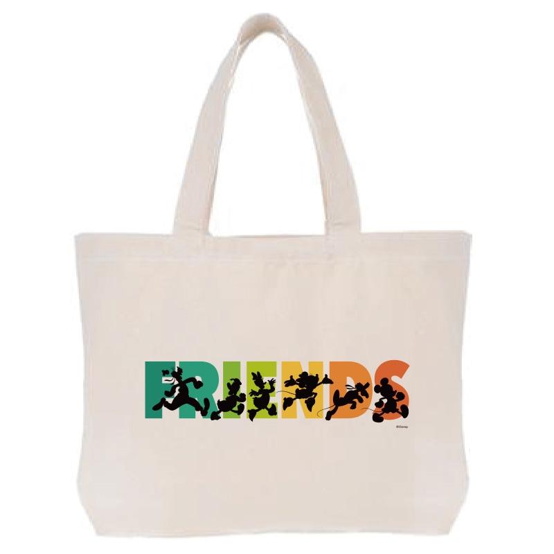 【D-Made】トートバッグ  ミッキー&フレンズ FRIENDSライン フレンドシップデー