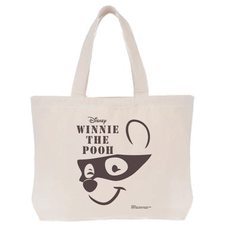 【D-Made】トートバッグ  くまのプーさん プーさん face Western Pooh