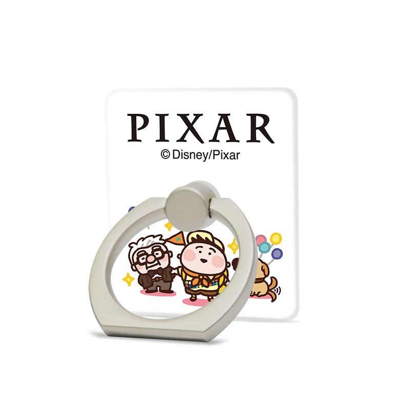 【D-Made】スマホリング カナヘイ画♪WE LOVE PIXAR カール・フレドリクセン&ラッセル・キム&ダグ