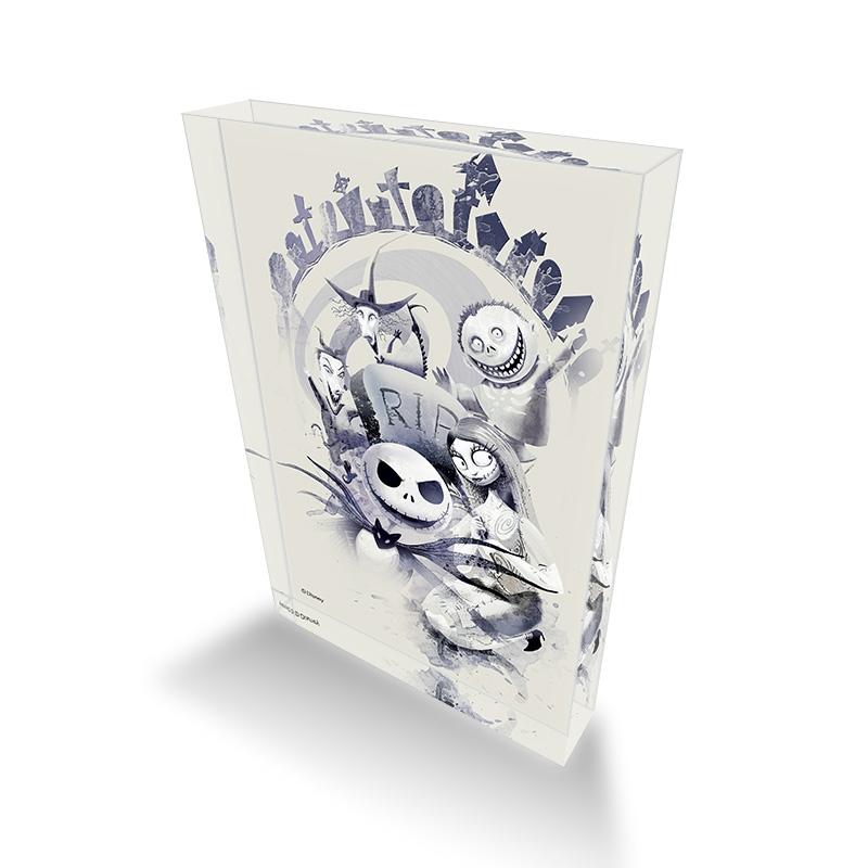 【D-Made】アクリルブロック ティム・バートン ナイトメアー・ビフォア・クリスマス ポスターアート