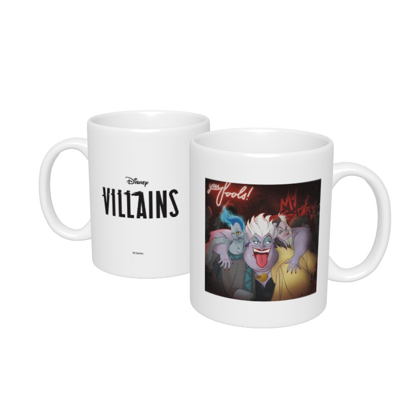 【D-Made】マグカップ  ヴィランズ ハデス&アースラ&クルエラ Disney Villains