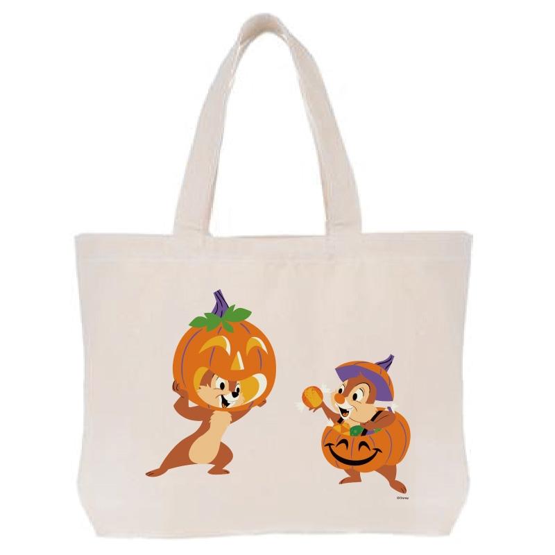 【D-Made】トートバッグ  チップ&デール かぼちゃ Disney Halloween 2021