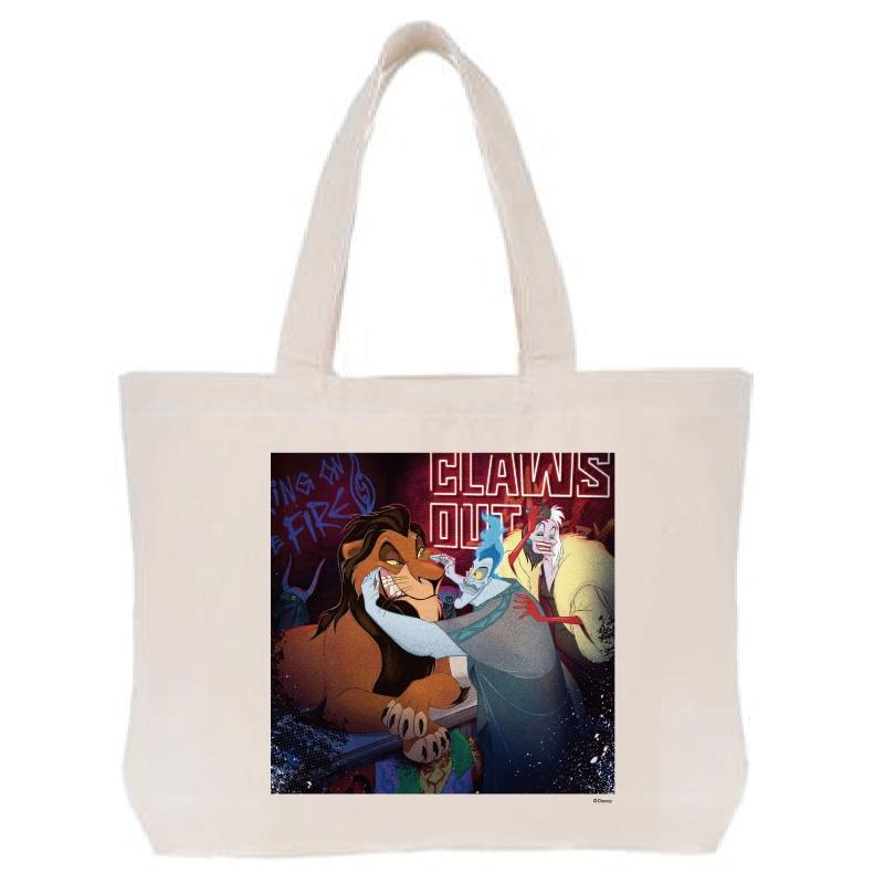 【D-Made】トートバッグ  ヴィランズ スカー&ハデス&クルエラ Disney Villains