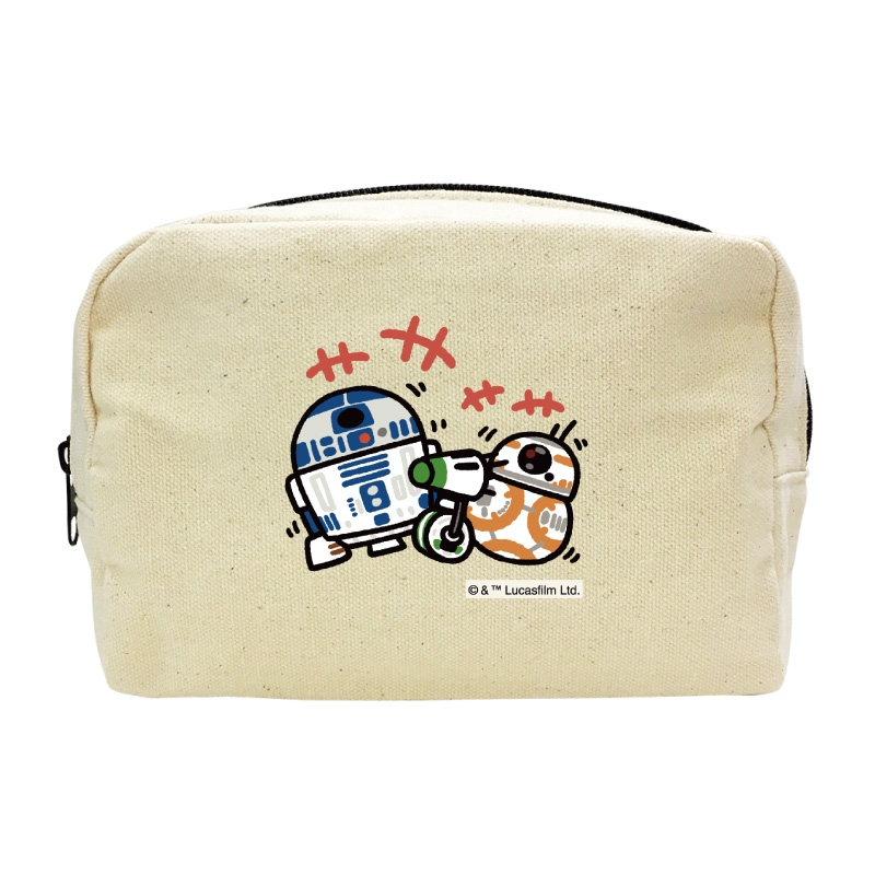 【D-Made】キャンバスポーチ カナヘイ画♪スター・ウォーズ R2-D2&BB-8