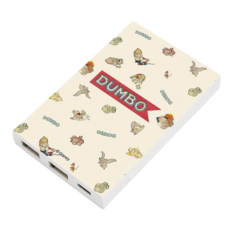 【D-Made】モバイルバッテリーチャージャー 総柄 ダンボ ロゴ Dumbo 80