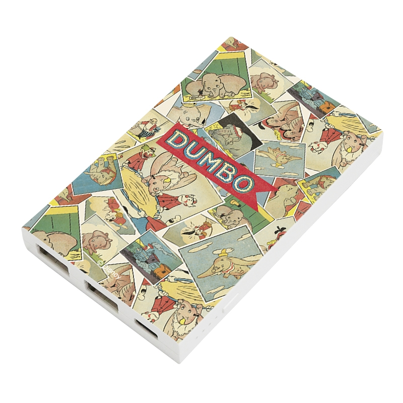 【D-Made】モバイルバッテリーチャージャー 総柄 ダンボ コミック Dumbo 80