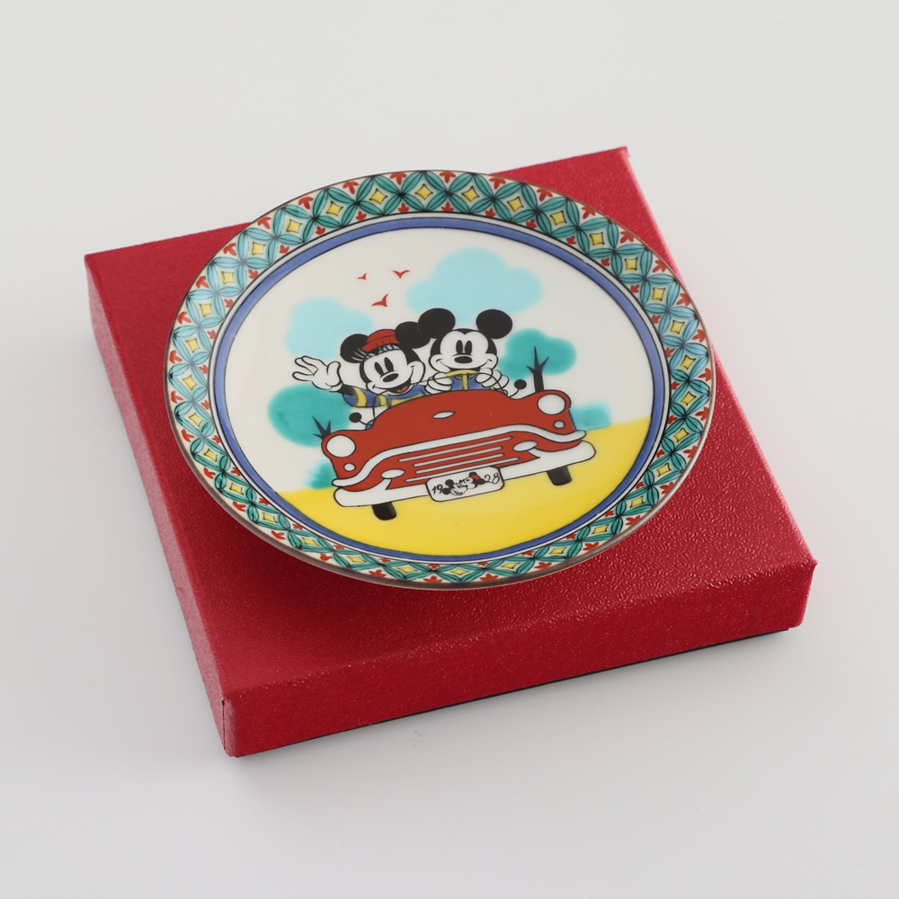 ミッキーマウス/小皿 七宝図