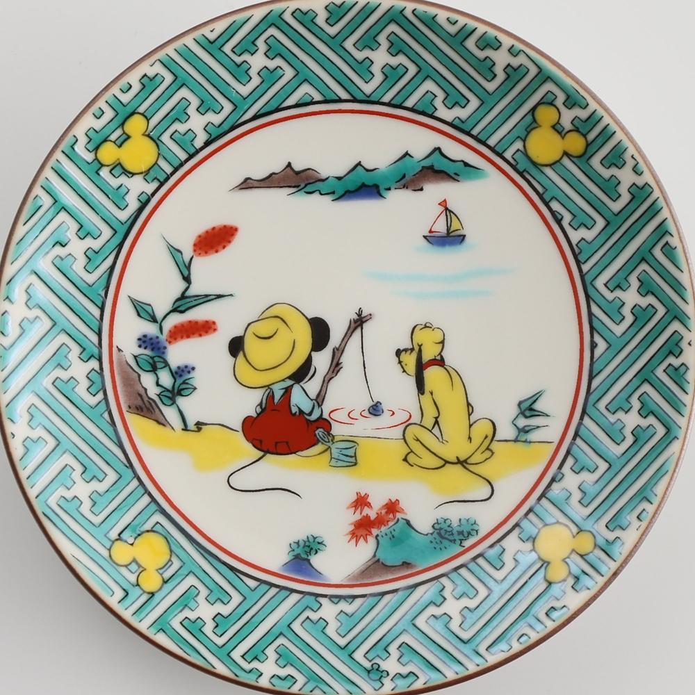 ミッキーマウス/小皿 古九谷山水画