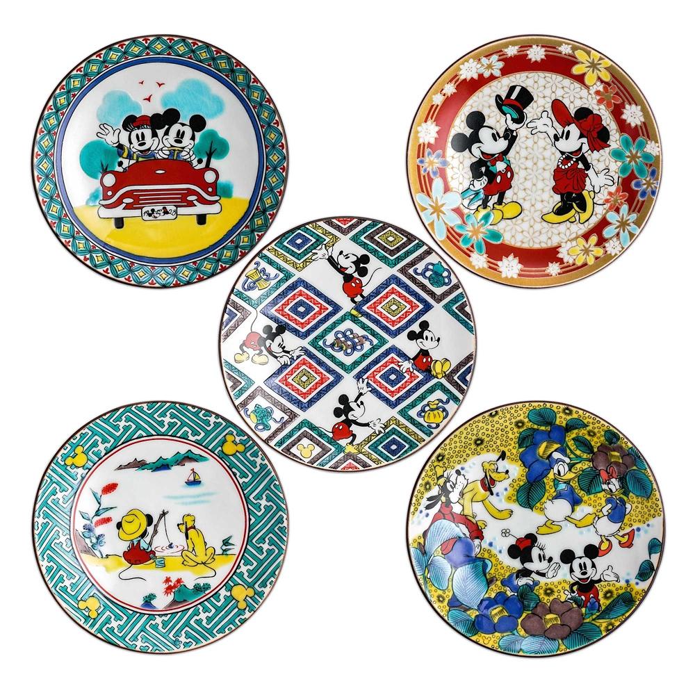 ミッキーマウス/小皿5pcsセット 九谷画風