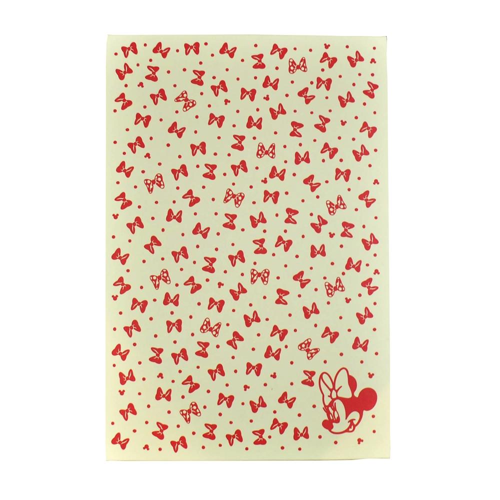 和ノート リボンちらし赤 ミニーマウス