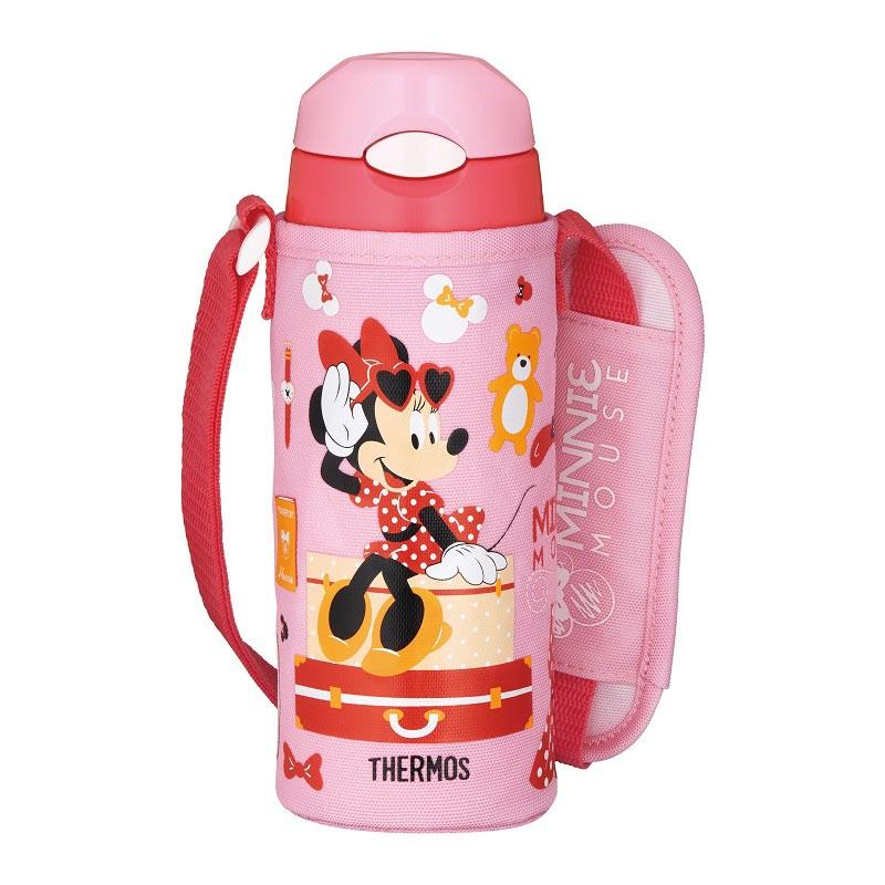 【THERMOS(サーモス)】ミニー 真空断熱ストローボトル ピンクコーラル