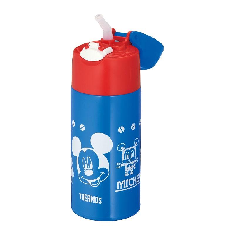 【THERMOS(サーモス)】ミッキー 真空断熱ストローボトル ブルーレッド