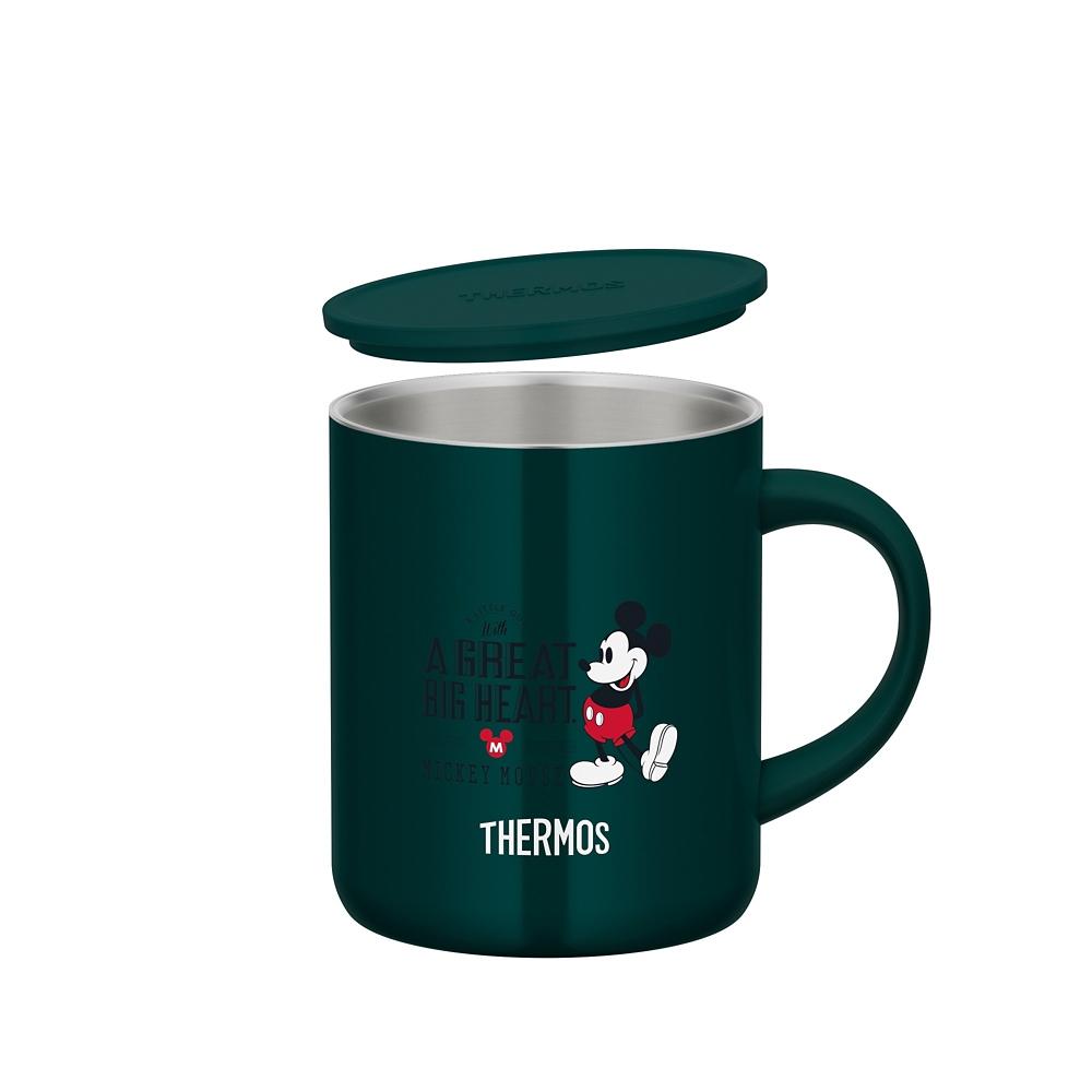 【THERMOS(サーモス)】ミッキー 真空断熱マグカップ ダークグリーン