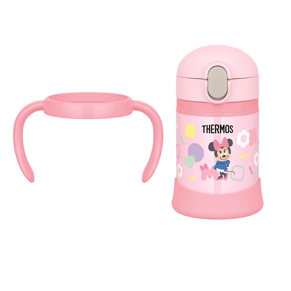 【THERMOS(サーモス)】ミニー&デイジー ベビーストローマグ まほうびん ピンク