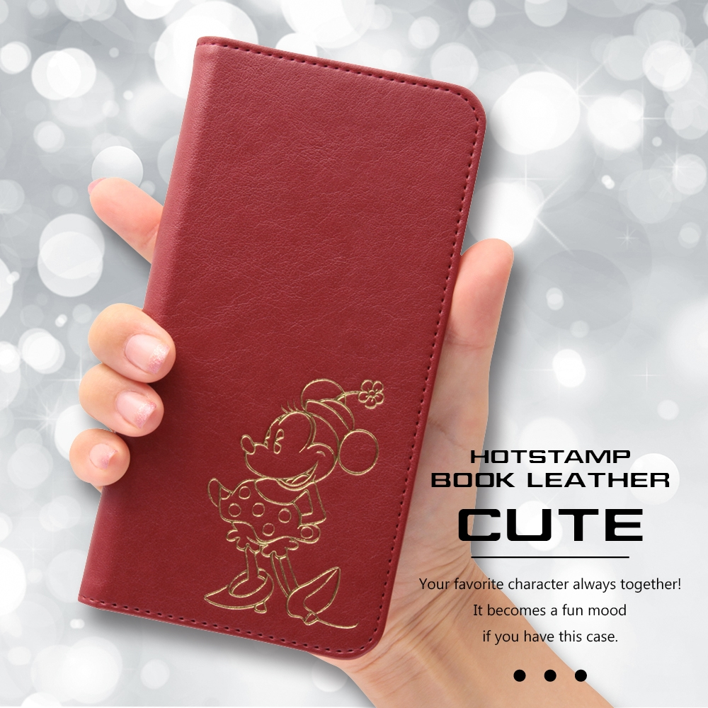 iPhone 8/7Plus ディズニーキャラクター/手帳型ケース ホットスタンプ ワンポイント/ミッキー