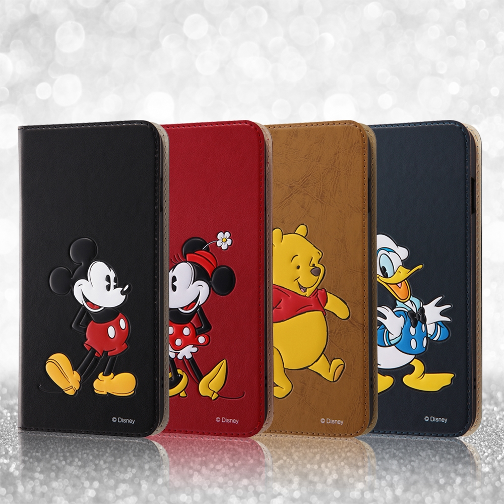 iPhone 8/7Plus ディズニーキャラクター/手帳型ケース スタンディング/プー
