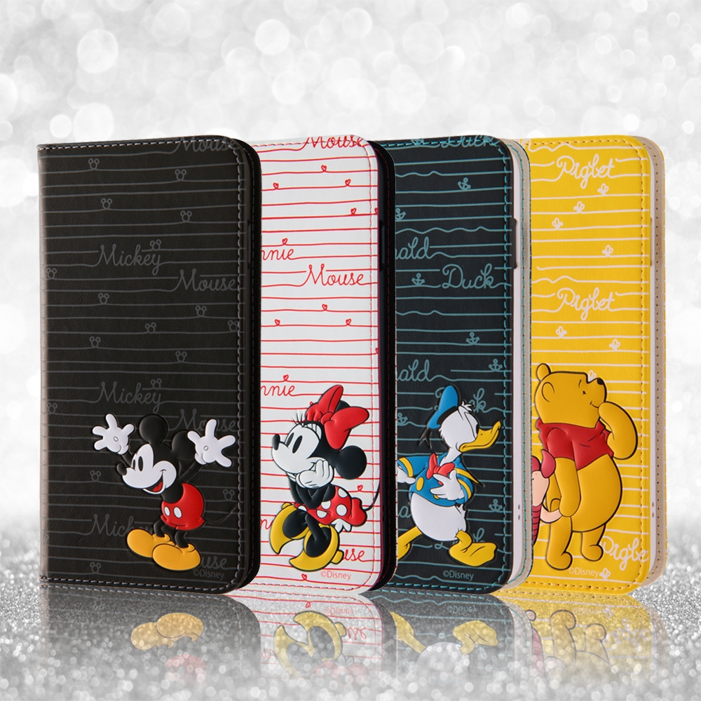 iPhone 8/7Plus ディズニーキャラクター/手帳型ケース スタンディング カーシヴ/プー