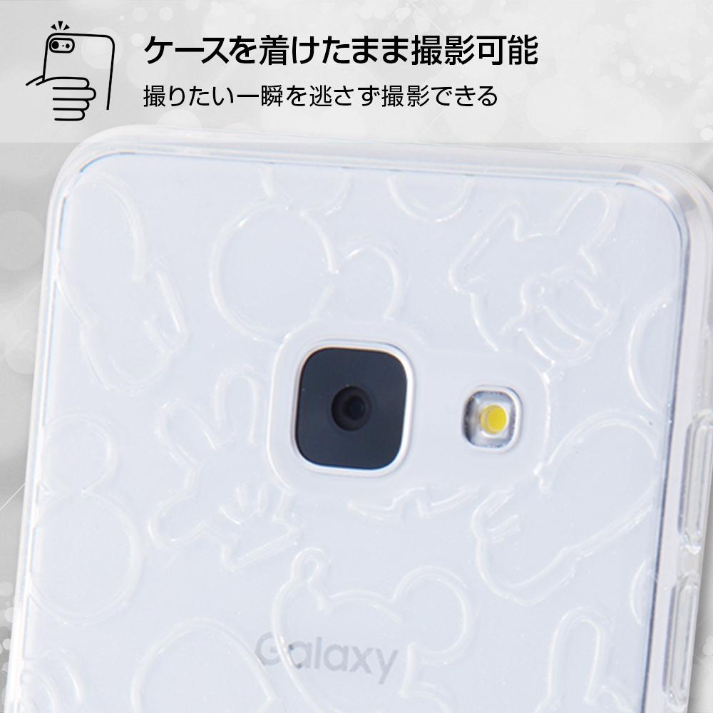 docomo Galaxy Feel SC-04J ディズニーキャラクター/TPUソフトケース キラキラ/ミッキー・ペールピンク