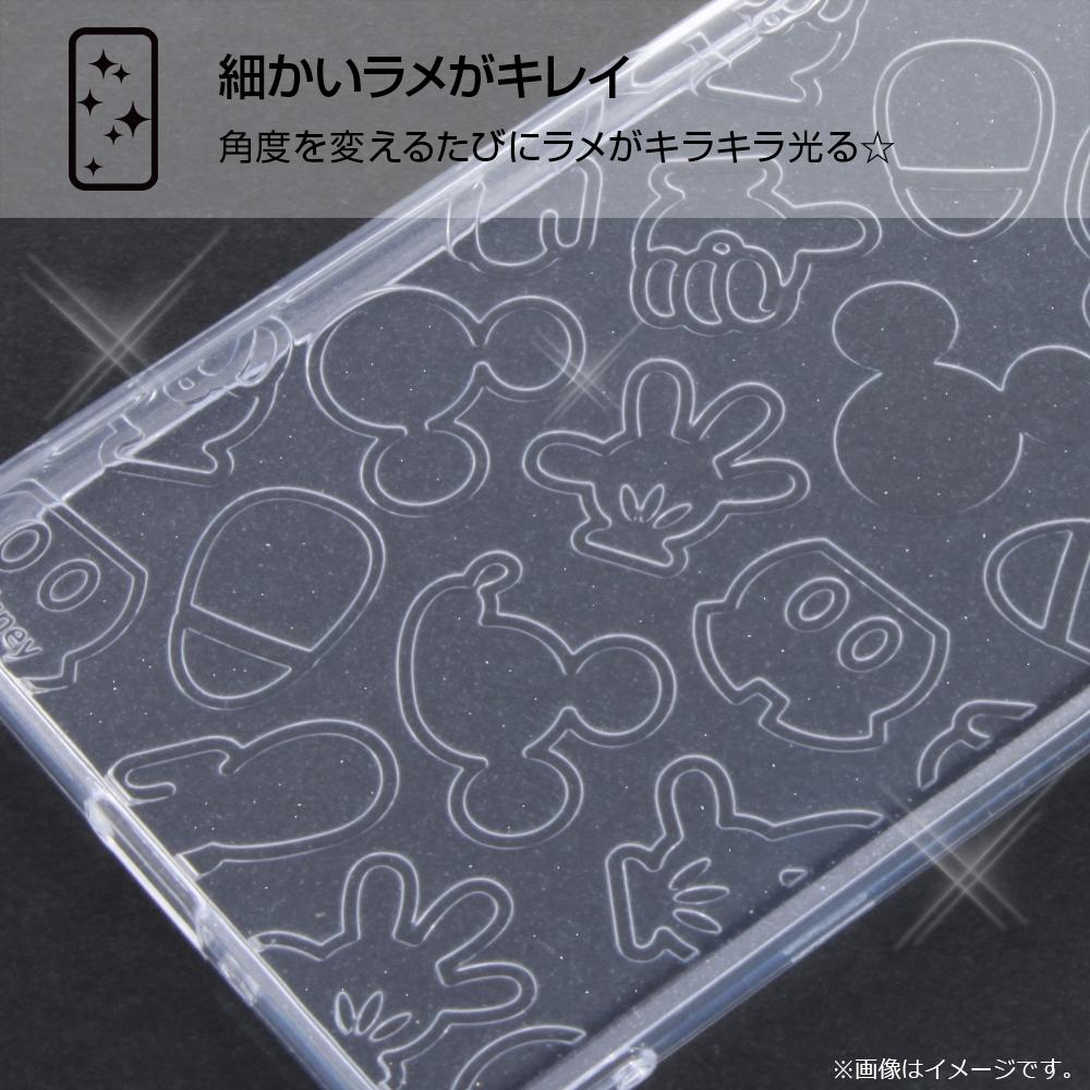 Xperia XZs ディズニーキャラクター/TPUソフトケース キラキラ/ミッキー・クリア