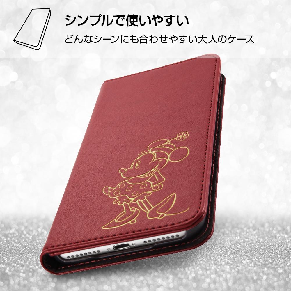 iPhone 8 Plus/iPhone 7 Plus ディズニーキャラクター/手帳型ケース ホットスタンプ ワンポイント/ミッキー