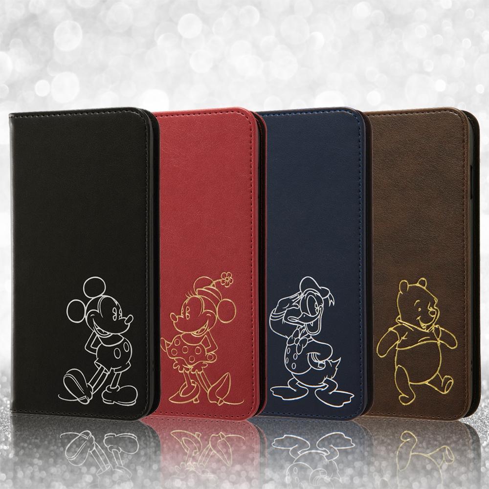 iPhone 8 Plus/iPhone 7 Plus ディズニーキャラクター/手帳型ケース ホットスタンプ ワンポイント/ドナルド
