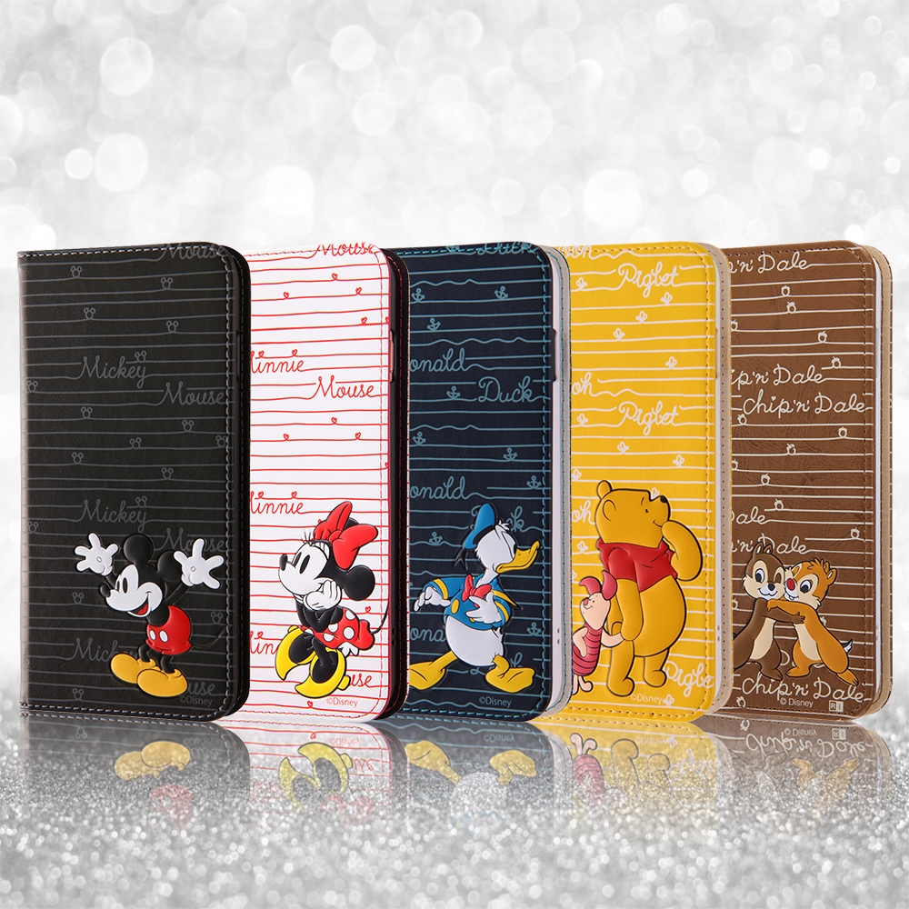 iPhone 8 Plus/iPhone 7 Plus ディズニーキャラクター/手帳型ケース スタンディング カーシヴ/ミッキー