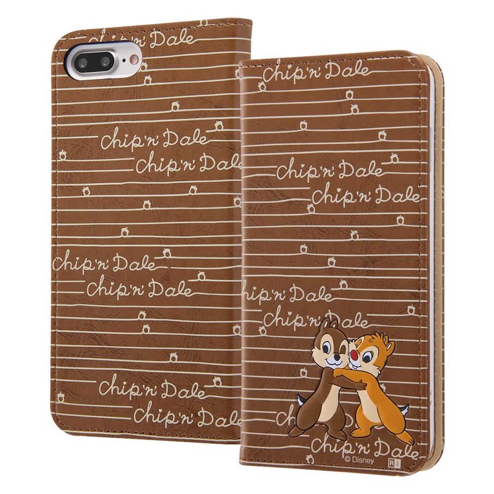 iPhone 8 Plus/iPhone 7 Plus ディズニーキャラクター/手帳型ケース スタンディング カーシヴ/チップ&デール