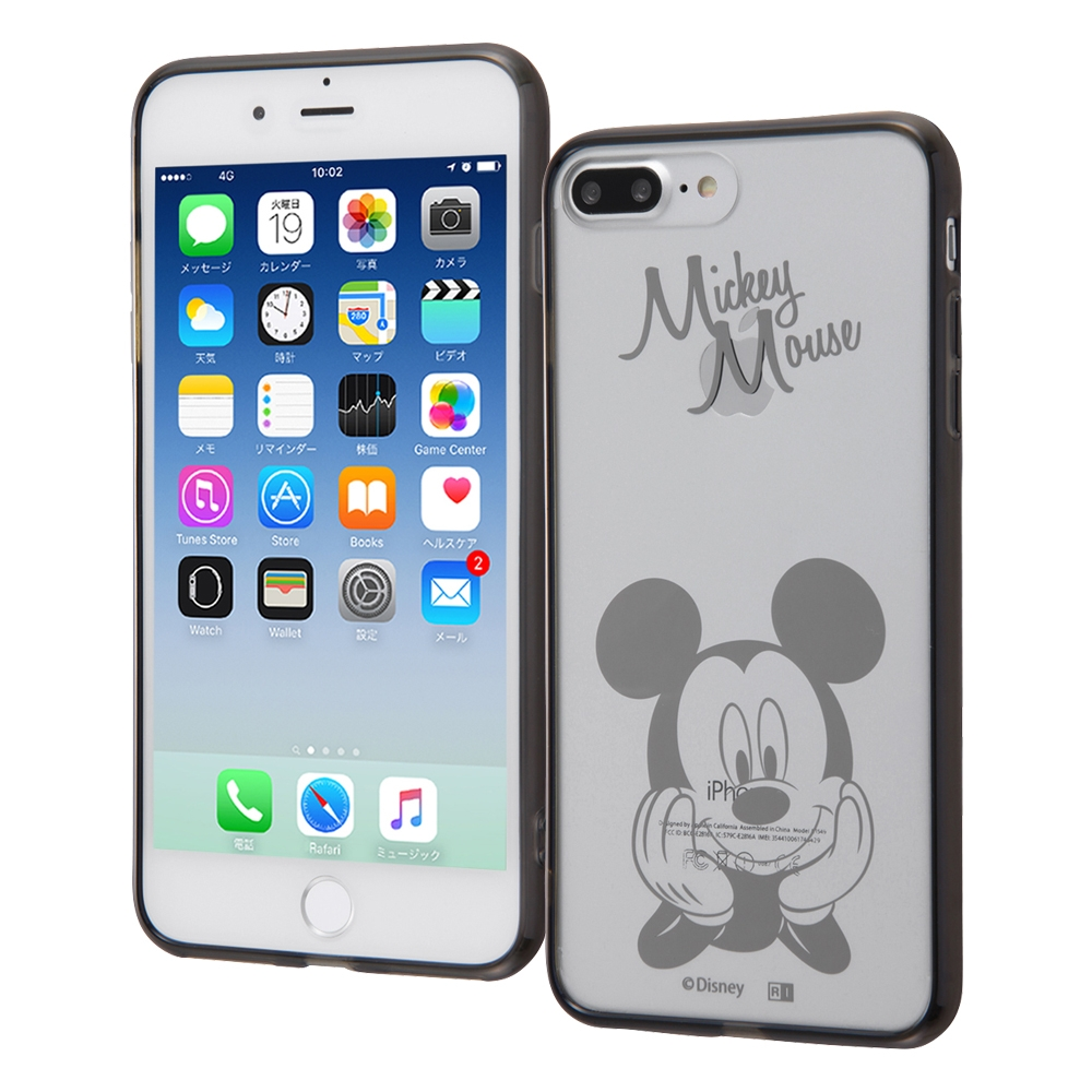iPhone 8 Plus/iPhone 7 Plus ディズニーキャラクター/ハイブリッドケース/ミッキー