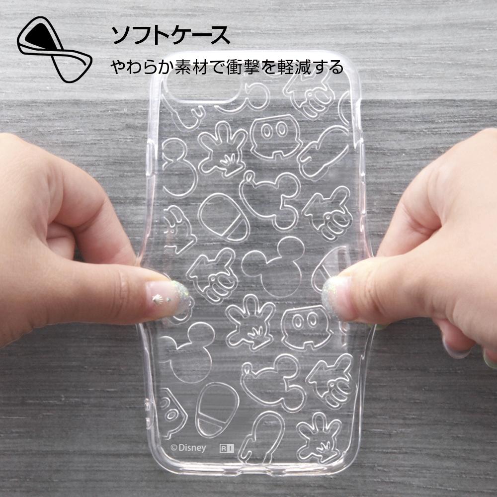 iPhone SE(第2世代)/8/ 7 ディズニーキャラクター/TPUソフトケース キラキラ/ミッキー