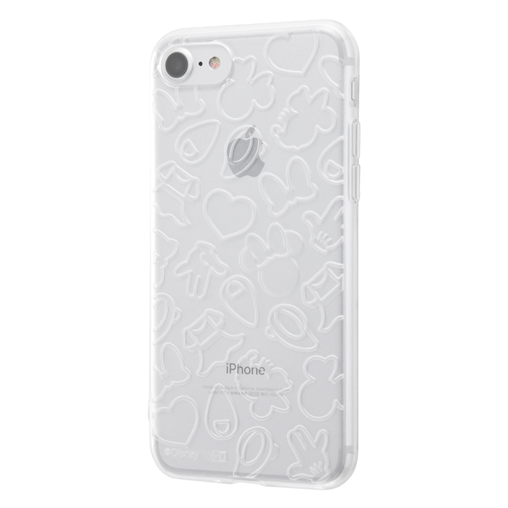 iPhone SE(第2世代)/8/ 7 ディズニーキャラクター/TPUソフトケース キラキラ/ミニー