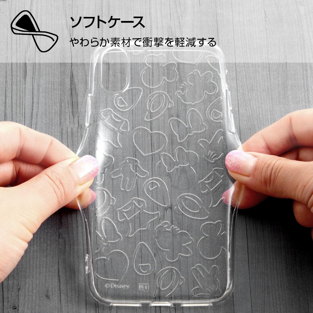 iPhone XS/X ディズニーキャラクター/TPUソフトケース キラキラ/ミニー