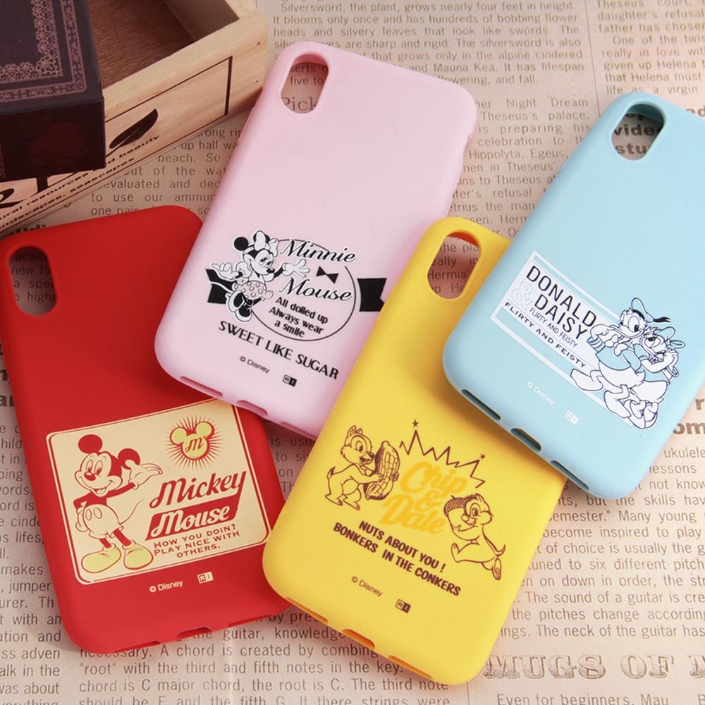 iPhone XS/X ディズニーキャラクター/シリコンケース/ミニー