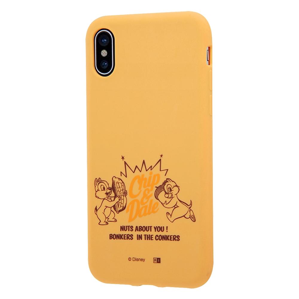 iPhone XS/X ディズニーキャラクター/シリコンケース/チップ&デール